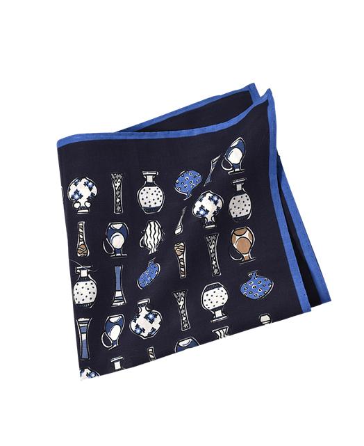 棉麻混纺口袋方巾