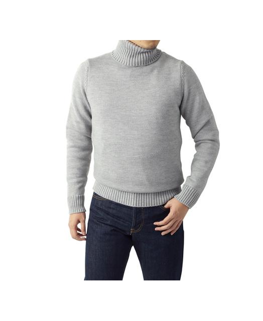 低织高领毛衣