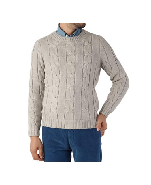 羊毛羊绒混纺圆领毛衣
