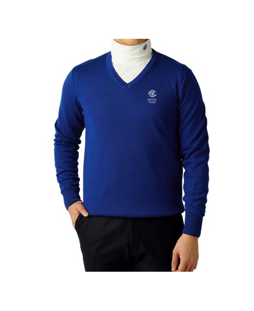 高尔夫专用V领针织毛衣