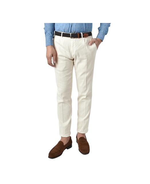 棉麻混纺西裤