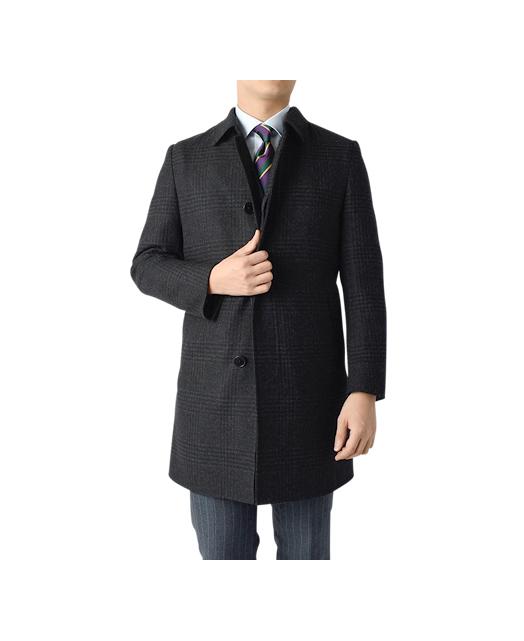 羊毛竖领大衣