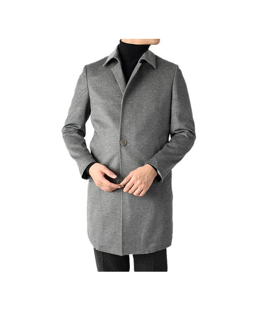 羊毛羊绒竖领大衣
