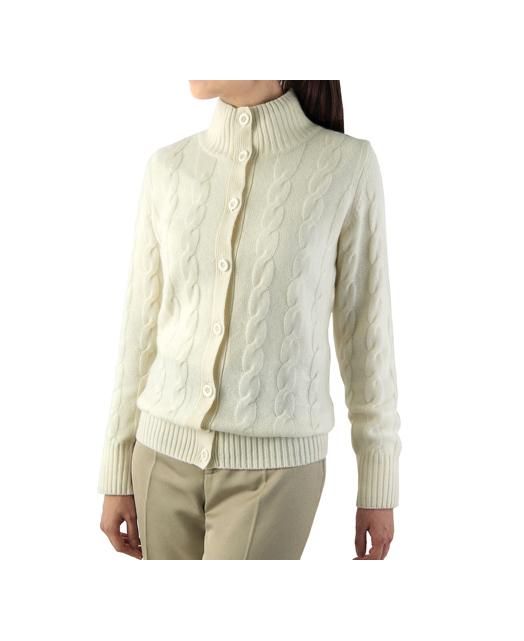 立领羊绒开衫毛衣